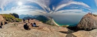 Panorama 360º da vista do topo da Pedra da Gávea. 2011