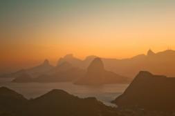 Entardecer no Rio, visto do Parque da Cidade, Niterói, 2012
